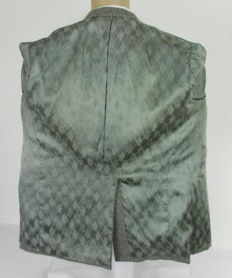 40 S BESPOKE Grigio Plaid Lana Tweed Uomo Stile Western