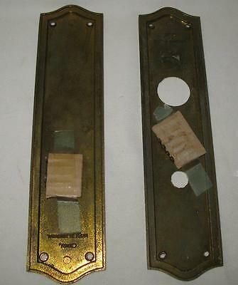 Vintage Front and Back Brass Door Plate Set 2