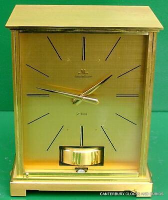 Jaeger Lecoultre Vintage Burgandy Embassy Atmos Clock Original Box Serviced 5