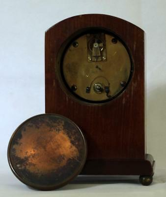Antique French 8 Day Mahogany And Boxwood Stringing Mantle Clock 7
