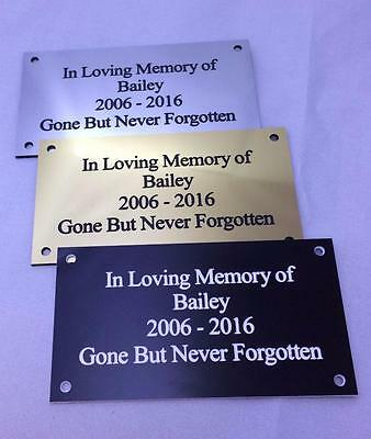 Brass/silver Personalised Engraved Memorial Celebration Plaque Various Sizes. 2