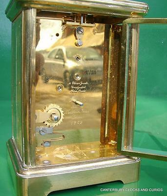 Matthew Norman Grande Corniche Vintage Swiss 8 Day Timepiece Carriage Clock 7
