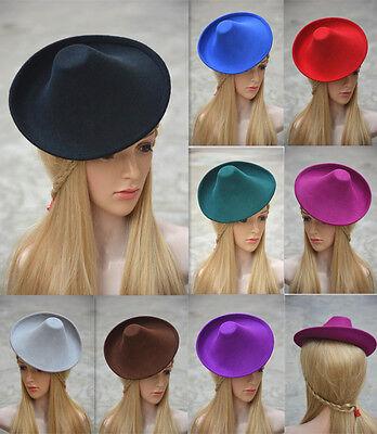 New Ladies Wool Felt Hat Millinery Supply Fascinator Base Royal Ascot A264 2