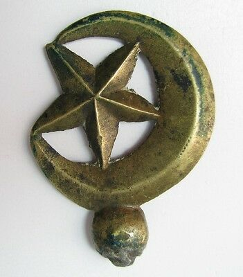 Antique Ottoman Turkish Finial? For Mounting Half Moon And Star Symbol Turkey >> 2