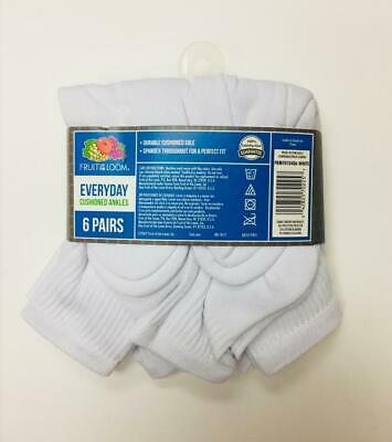 Fruit Of The Loom Big&Tall Mens Socks Everyday Cushioned Ankles 6 Pair Sz 12-16 2
