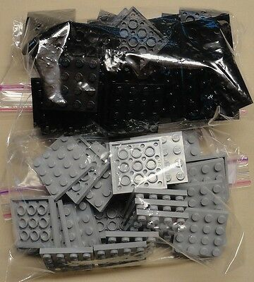 x64 NEW Lego Plates 4x4 White /& Blue Baseplates MAKES CHESS Game Board