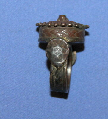 Ancient Greek Handcrafted Bronze Folk Ring