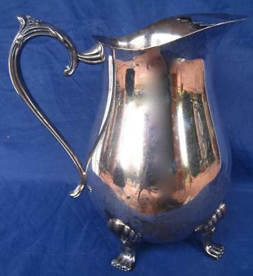 Leonard Water Pitcher Silver Plate Engraved Jamaica Air 1979 Invitational Handle 2
