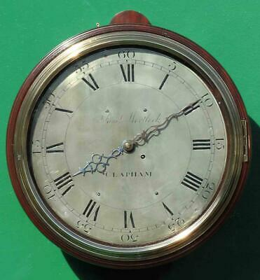 "Early English Georgian 8 Day Verge Fusee 12"" Dial Clock Samuel Mortlock Clapham 3"