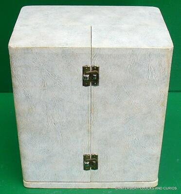 Jaeger Lecoultre Vintage Burgandy Embassy Atmos Clock Original Box Serviced 4