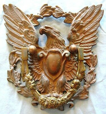 Antique Large Japan Bronze American Eagle Door Knocker 3