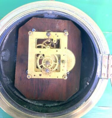 Newhaven Usa Antique American 8 Day Marine Ships Mariner Clock Serviced Gwo 6