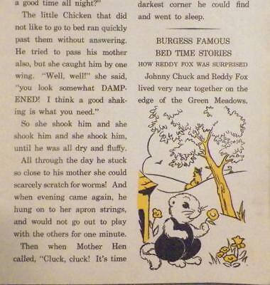 Child's Vintage Book Burgess Bedtime Stories Chick That Would Not Go To Bed AsIs 3