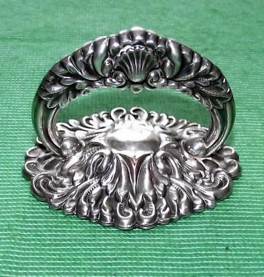 Superb Silver Plate c1900 Art Nouveau Entree Handle Paperweight Scallop Shell 5