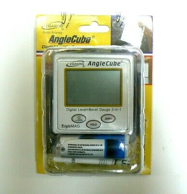 iGaging Angle Cube Digital Protractor Gauge Magnetic Angle & Level Sensor Bevel 10