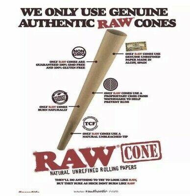 RAW Classic King Size Authentic Pre-Rolled Cones with Filter - 50 Pack 2