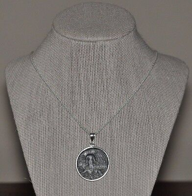 Authentic Eastern Roman Empire Byzantine Jesus Christ Coin 925 Sterling Necklace 3