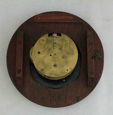 "Rare Miniature Antique English Mahogany 8 Day 7"" Fusee Dial Clock Webb Sandgate 8"