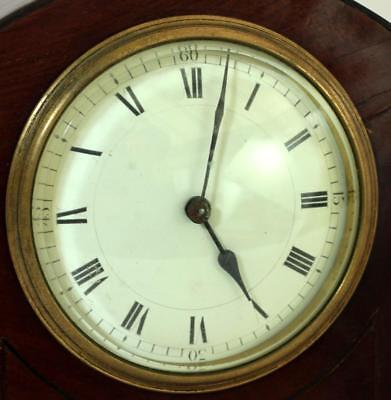 Antique French 8 Day Mahogany And Boxwood Stringing Mantle Clock 2