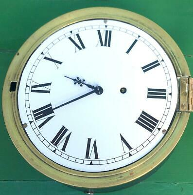 Newhaven Usa Antique American 8 Day Marine Ships Mariner Clock Serviced Gwo 5