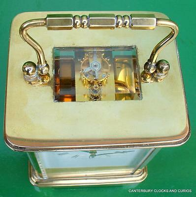 Matthew Norman Grande Corniche Vintage Swiss 8 Day Timepiece Carriage Clock 9