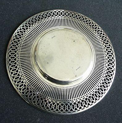 American sterling silver by Watson - pierced rim plate 4
