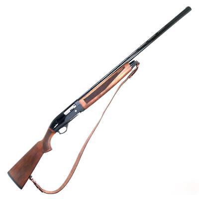 Genuine Leather Hunt Real Gun Sling Shotgun Shoulder Strap Shooting Rifle New