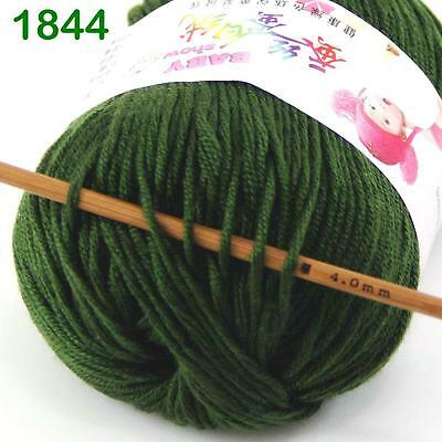 Sale New 1Ball x50g Cashmere Silk Wool Colorful Children Hand knitting Baby Yarn 6
