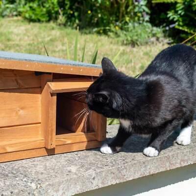 Predator Proof Hedgehog Hibernation Shelter Solid Wood Habitat Nest Box House 9