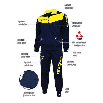 Tuta Givova Sportiva Per Pallavolo Tennis Running Uomo Donna Fitness Tracksuit 2
