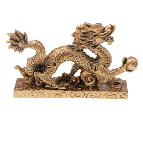 1 Piece Chinese Feng Shui Dragon Bronze Figurine Statue Luck & Success Gifts 10