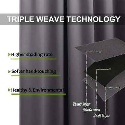 THERMAL BLACKOUT CURTAINS Eyelet Ring Top OR Pencil Pleat FREE Tie backs 3