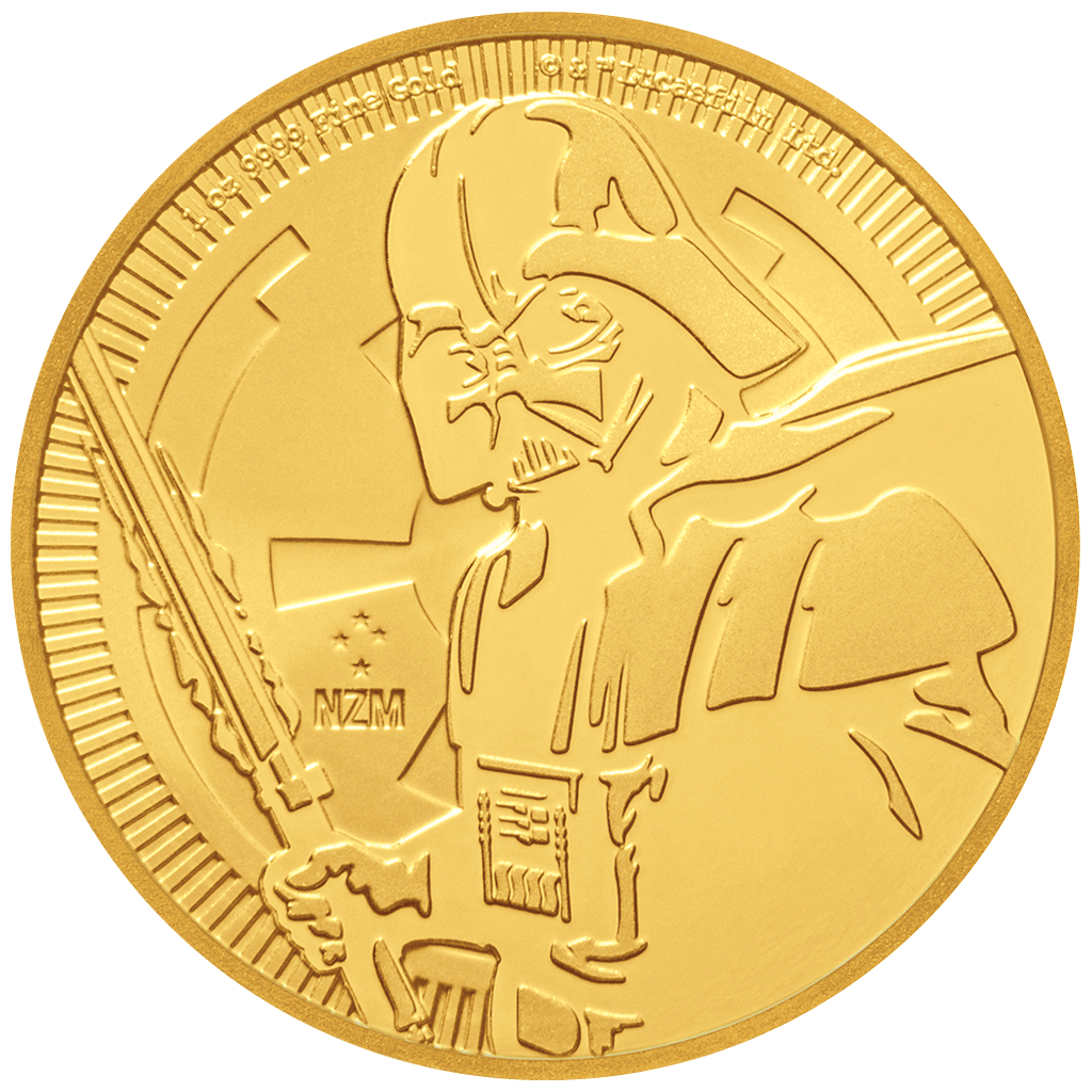 Niue - 250 Dollar 2019 - Star Wars™ - Darth Vader™ - 1 Oz Gold ST - Anlagemünze 2