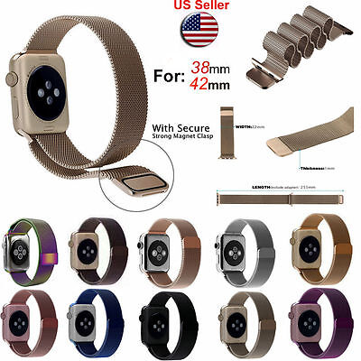 Magnetic Milanese watch Band iWatch Strap for Apple Watch Sport Series 4 3 2 1 2