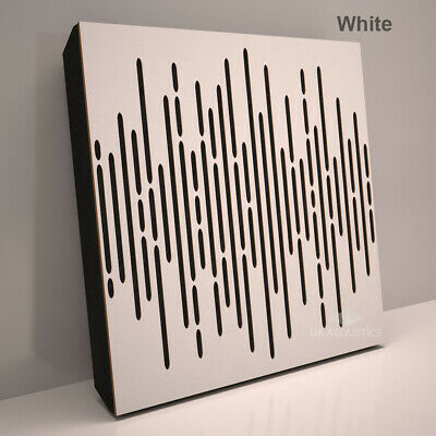 "(2 Pack) 50*50*3cm Absorption-Diffuse Acoustic Panel ""Wave"", (laminated wood) 8"