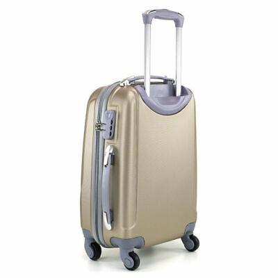 Juego de 3 maletas rigidas lisas de 4 ruedas giratoria 360 maleta equipaje viaje 7
