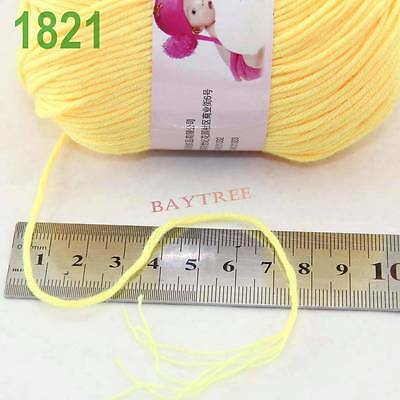 Sale New 1Ball x50g Cashmere Silk Wool Colorful Children Hand knitting Baby Yarn 7