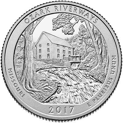 2017 P+D Ozark National Scenic River ways Park (MO) 2 Park Quarter Set *ON HAND*
