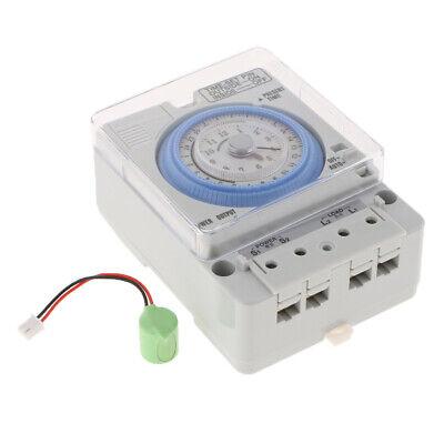24H Chronometrie Timer Mechanischer Schalter Analoge Zeitschaltuhr 100-240V 4