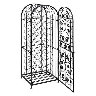Elegant Metal Wine Home Bar Cabinet Storage Rack Floor Stand - Holds 45 Bottles 2
