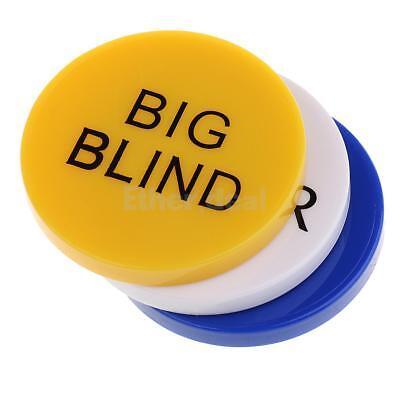 Small Blind Dealer// Big Blind 3tlg Hochwertig Doppelseitig Poker Button