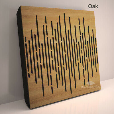 """2pcs 50*50*3cm Sound Absorption-Diffuse Acoustic Panel """"Wave"""", (laminated wood) 7"""