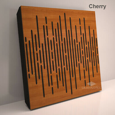 """2pcs 50*50*3cm Sound Absorption-Diffuse Acoustic Panel """"Wave"""", (laminated wood) 2"""