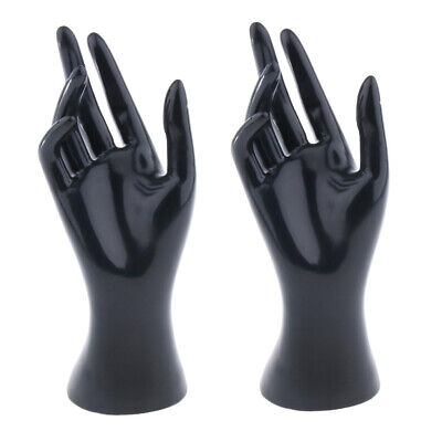 2pcs Black Female Mannequin Right Hand Jewelry Bracelet Ring Display Rack
