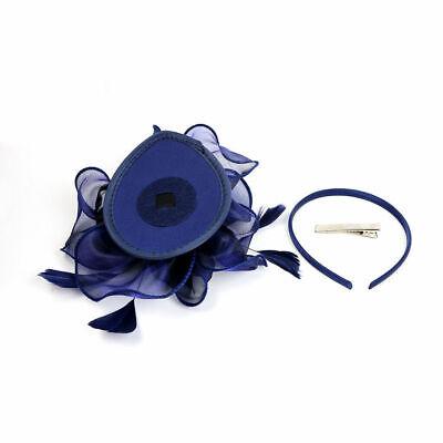 UK Feather Flower Headband Alice Band Fascinator Womens Wedding Race Royal Ascot 3