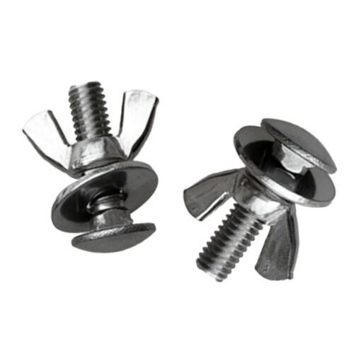 Prettyia Tech Dive Stainless Steel Butterfly Screw Bolts Wing Nuts Wingnut 2 Sets Diving Hardware