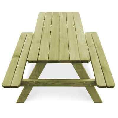 vidaXL Table Pique-nique Banc Bois de Pin Imprégné FSC Jardin Patio Terrasse 4