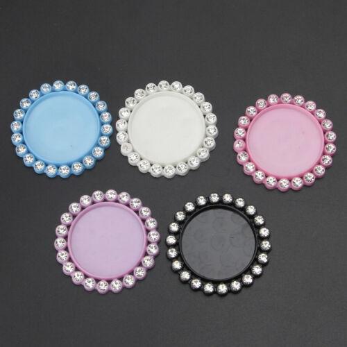 5Pc Round Resin Flatback Pendant Base Setting Crystal Cabochon Frame Jewelry DIY 2