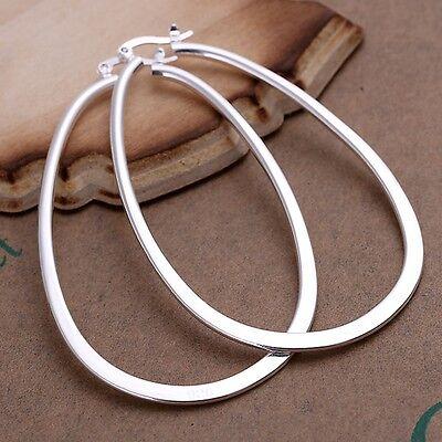 925 Sterling Silver Hoop Pierced Earrings L1 5