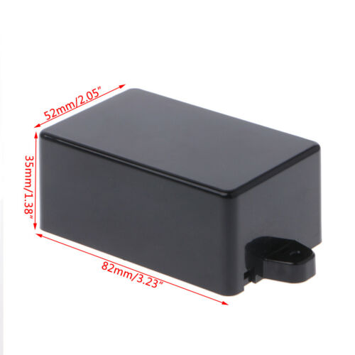DIY Waterproof Electronic Project Instrument Case Box Connector Aluminum Black 8